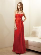 L144004 Mock-halter gown with ruched bodice, gathered front skirt and ruffled fabric accent. Spring 2012 Collection