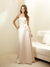 L144006 Strapless gown with detachable sash at waist. Spring 2012 Collection