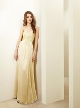 L144018 Strapless sweetheart gown with beaded pin on bodice and gathered front skirt. Spring 2012 Collection