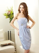 L144020 Strapless gown with draped front and beaded accent at waist. Spring 2012 Collection