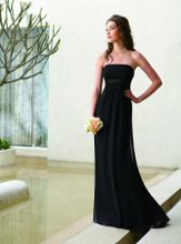 L1069 Strapless gown with charmeuse accent at empire waist Fall 2009 Collection