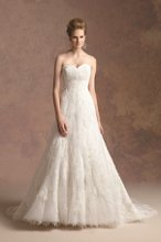 Style # T152002 A-line tulle gown with lace overlay and sweetheart neckline.