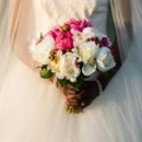 Gorgeous spring bouquet with peonies, roses, and coral berries.
