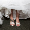 130x130 sq 1390502760858 white wedding shoe
