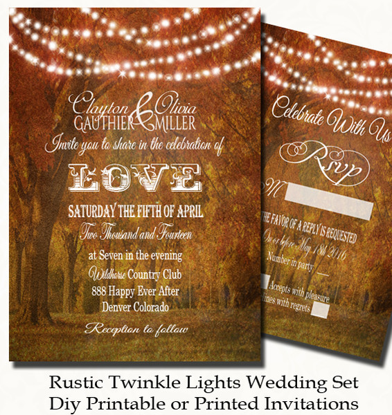 rustic fall wedding invitations | wedding design ideas, Wedding invitations