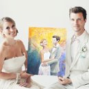 130x130 sq 1355437258065 weddingcoupleholdingmarriagepaintingportrait02bsmall