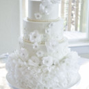 130x130 sq 1473348519074 white wafer paper and lace wedding cake. 1 of 4