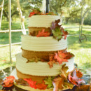 130x130 sq 1473359901695 fall wedding cake with hand made leaves 1