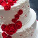 130x130 sq 1473359945945 red rolled rose wedding cake 3