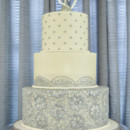 130x130 sq 1473359996496 silver blue lace wedding cake   copy