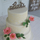130x130 sq 1473360032567 wild rose and lace wedding cake 2