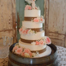 130x130 sq 1473360041623 willow tree wedding cake with burlap and flowers 1