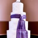 130x130 sq 1473360050714 winter wedding cake with snowflakes and purple sas