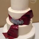130x130 sq 1473448859691 burgundy sash w silver applique 2