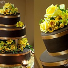 220x220 sq 1332435326587 chocolategoldweddingcake