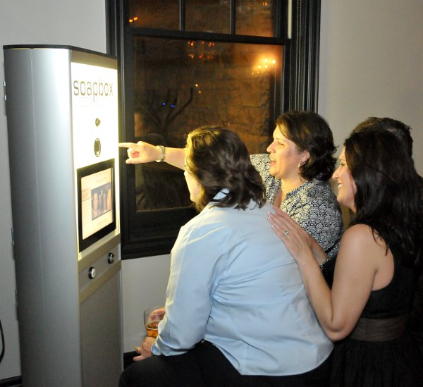 The video booth you can rent from Soapbox Photo & Video Booths .
