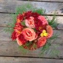 130x130 sq 1423337215415 red coral wispy greens fall bouquet