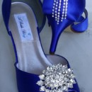 130x130 sq 1452306674335 blue wedding shoes with oval crystal brooch and ca