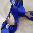 130x130 sq 1452306724065 blue bridal shoes with sating bow and crystal broo