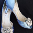 130x130 sq 1452306730393 baby blue wedding shoes with large crystal brooch