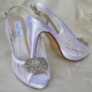 130x130 sq 1452306778228 lace slingback wedding shoes with crystal rectangl