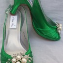 130x130 sq 1452306806640 emerald green slingback with cascading crystal and