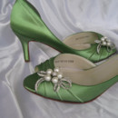 130x130 sq 1452306854299 green wedding shoes with pearl and crystal bow