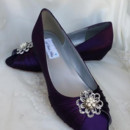 130x130 sq 1452307142344 purple wedge wedding shoes with crystal and pearl