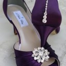 130x130 sq 1452307146163 eggplant purple wedding shoes with crystal flower