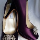 130x130 sq 1452307157248 eggplant purple closed toe wedding shoes with vint