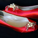 130x130 sq 1452307353167 red wedge wedding shoes with side pearls bow