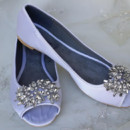 130x130 sq 1452307417169 satin peep toe ballet flat with crystal brooch des