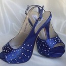 130x130 sq 1452307959 7cd1801291edbb5b 1452306711090 blue slingbacks with crystals