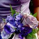 130x130 sq 1314427175358 bridesmaidsboquetshadesofpurple