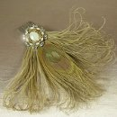 Leona Peacock Feather Vintage Bridal Hair Accessory