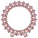 "Olivia Riegel Pink OR Clear Crystal Round 4.5"" Frame"