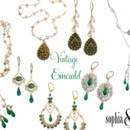 130x130 sq 1374785782006 343aavintage emerald jewelry downton abbey
