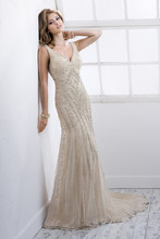 Braxton 4SK816 Beaded embroidery on tulle over Evita Satin.