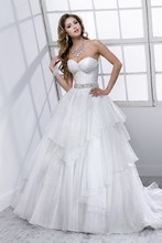 Misty 4ST814 Fantasy Organza with bead encrusted waistband featuring Swarovski crystals.