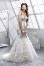 Wynter 4SW796 Beaded embroidery on tulle featuring Swarovski crystals and gathered Chic Organza skirt.