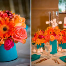 130x130 sq 1376412344655 coral and acqua wedding centerpieces