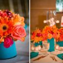 130x130 sq 1376412344655 coral and acqua wedding centerpieces