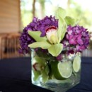 130x130 sq 1376413284924 purple and green reception table