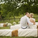 130x130 sq 1421323944124 counrty seating on bales of hay with linen