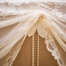 130x130 sq 1421324021125 vintage pearl and lace table ties