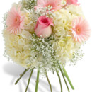 130x130 sq 1457361198408 dainty pink and white bouquet miami gardens flower