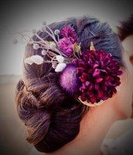 220x220 1291157555723 purpleflowerheadpiece