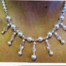 Swarovski crystal and Pearls in the white shade. This set has sold, but can be recreated.