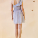 Paloma One shoulder simple ruffle dress with sash Available in various colors!