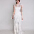 Everything is Beautiful Chantilly lace cap sleeve dress with dropped bodice and flowing skirt